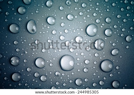 Drops of water on the colored background.