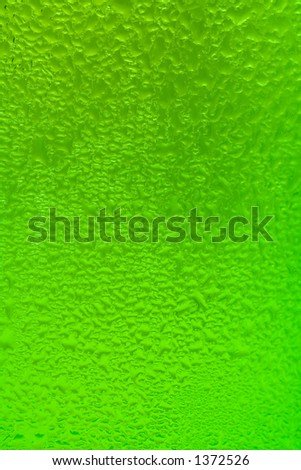 drops on a glass bottle - stock photo