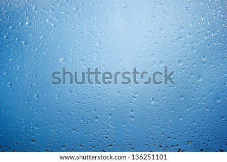 Drops on a glass surface - stock photo