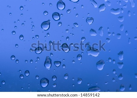 Drops on glass. A background for your collage.