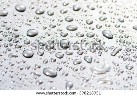 drops on the glass surface of the matrix TFT monitor closely, background
