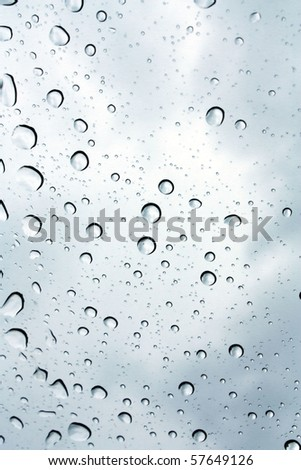 Drops on the window - stock photo