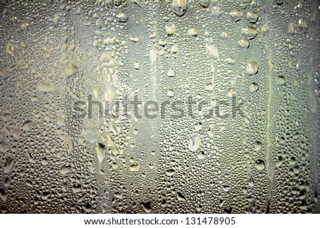 Drops water glass for background pattern - stock photo