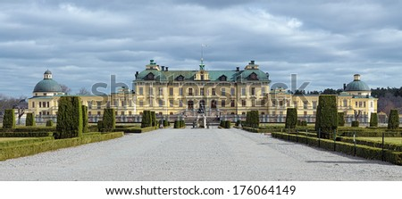 Drottningholm Palace in Ekero Municipality, Stockholm County, Sweden - stock photo
