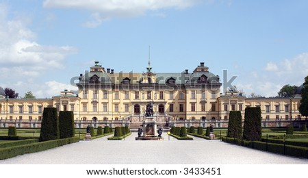 Drottningholms castle, Sweden - stock photo