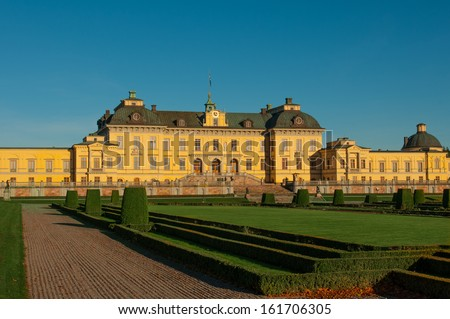 Drottningholms slott (royal palace) outside of Stockholm, Sweden