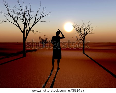 Drought as the result of global warming and climate changes. - stock photo