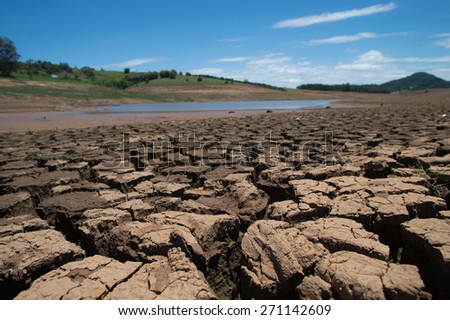 Drought in Brazil - stock photo