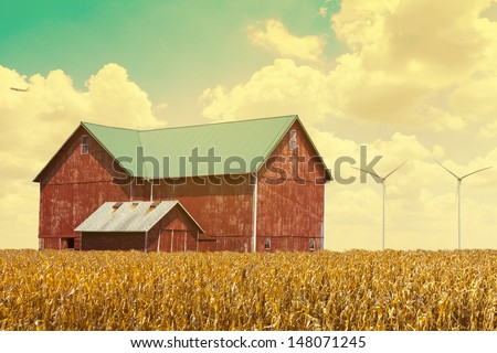 Drought in the American countryside - stock photo