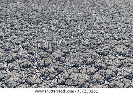 drought land as background - stock photo