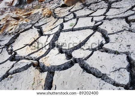 Drought, natural disaster, climate change. - stock photo