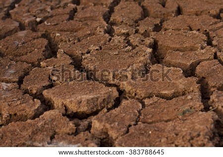 Drought soil dry background - stock photo