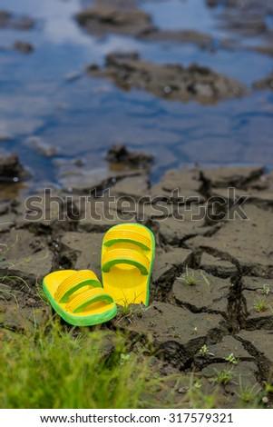 drought texture on dry season in Asia, Thailand - stock photo