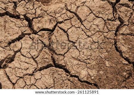 Drought, the ground cracks, no hot water, lack of moisture - stock photo