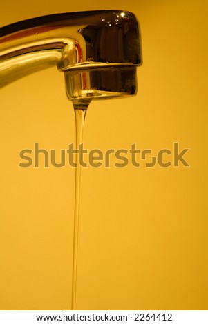 drought water conservation/leaky faucet - stock photo