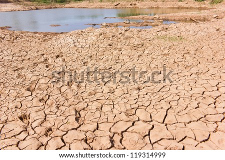 Droughts soil. Water shortages - stock photo