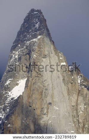 Dru Peak, Aiguilles du Chamonix, Mont Blanc Massif, Alps, Chamonix, France - stock photo