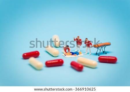 Drug abuse concept. Macro photo - stock photo