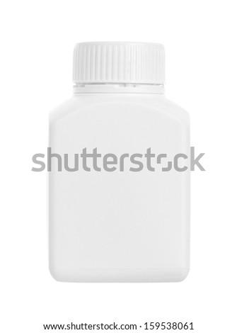 Drug bottle isolated on white background - stock photo