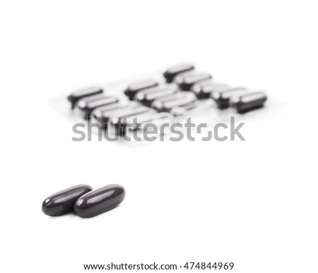 Drug pill blister pack isolated over the white background