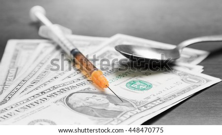 Drug trade - stock photo