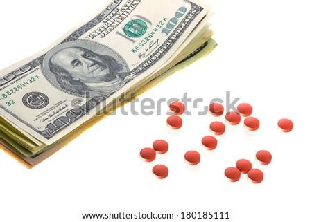Drugs for money deal - stock photo