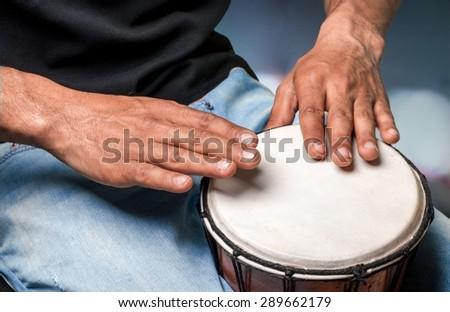 Drum, African Culture, Bongo. - stock photo
