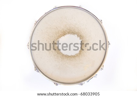 Drum conceptual image. Snare drum on isolated background. - stock photo