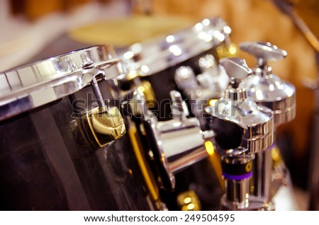 drum in a music studio closeup - stock photo