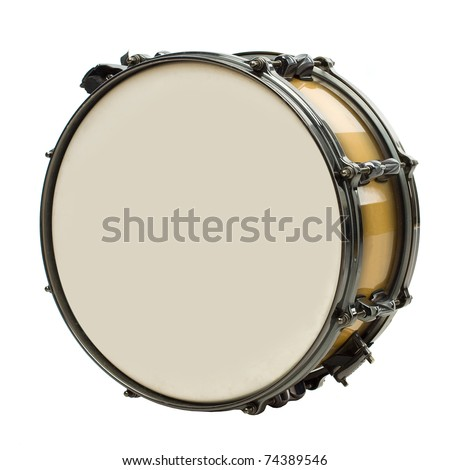 Drum isolated on white - stock photo