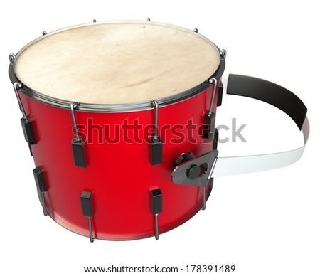 drum. isolated white background. 3d