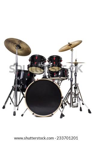 Drum Kit Isolated on White Background - stock photo