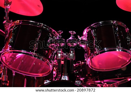 Drum Kit on the stage - stock photo