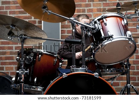 Drum kit ,- shallow depth of field