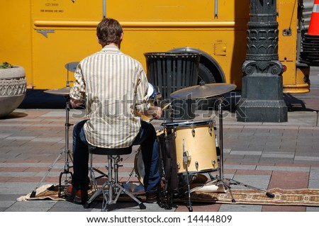 drummer boy - stock photo