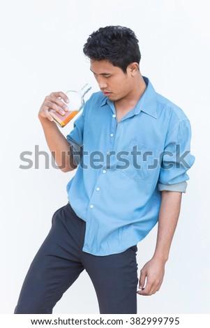 Drunk man - stock photo