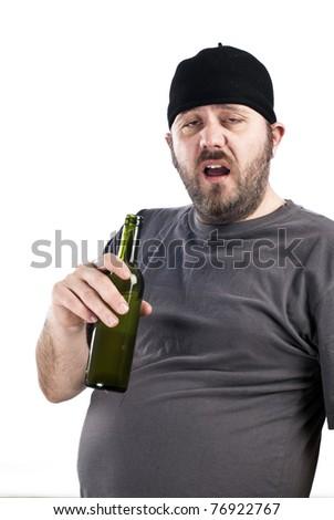 drunk person - stock photo
