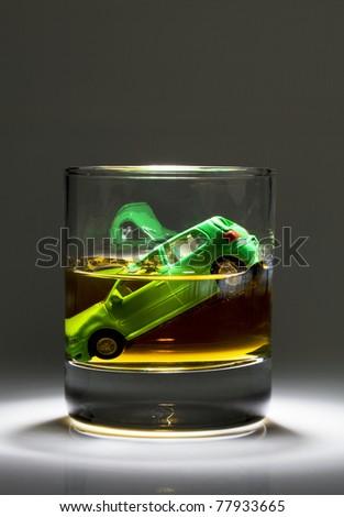 drunken driver - stock photo