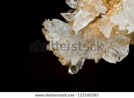 Druze crystals in the cave