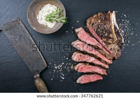 Dry Aged Barbecue Cote de Boef - stock photo