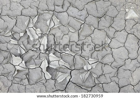 Dry and cracked earth background. - stock photo
