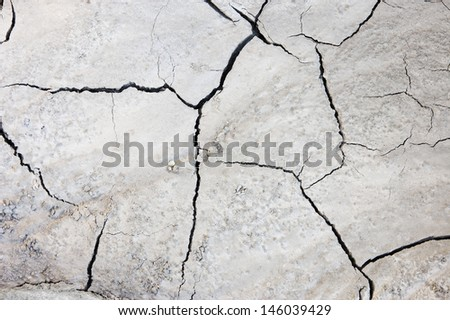 Dry and cracked soil texture  - stock photo