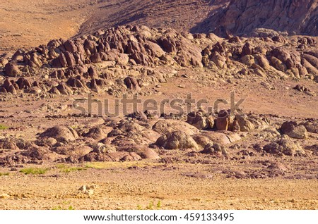 Dry and wild hills of Morocco