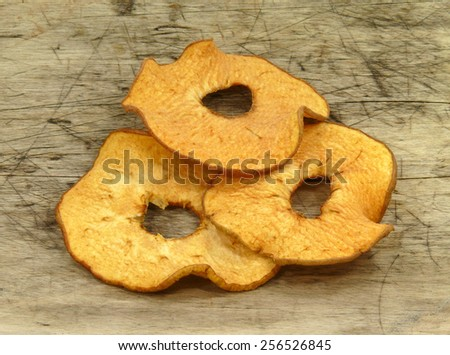 dry apple chips - stock photo
