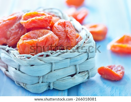 dry apricot - stock photo