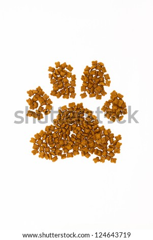 Dry cat food - stock photo