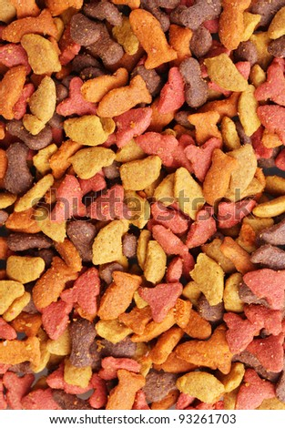 Dry cat food close-up - stock photo