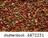 dry cat food mix (kibble) - stock photo
