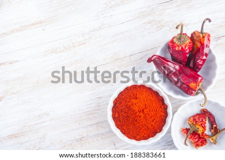 dry chilli pepper - stock photo