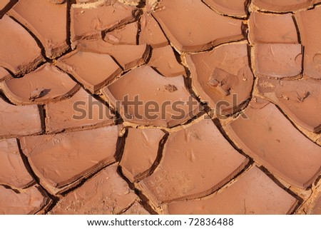 dry clay - stock photo